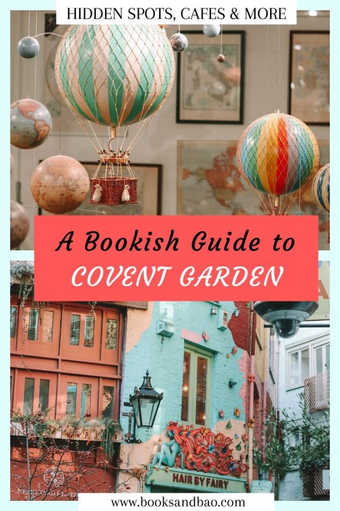 Covent Garden is a haven for bookworms! From secret library bars to cute cafes, & quaint bookshops. Find these & more in our bookish guide to Covent Garden! #literarytravel #london #citybreak #placestotravel #bookworms #giftideas #uk #books #reading #citylife #bookish #coventgarden #instagrammable