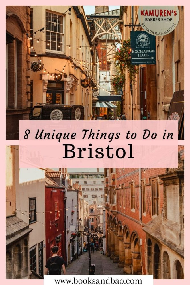 8 Unique Things to do in Bristol | Books and Bao Known as the hipster city of Britain for good reason! There's so much vibrancy to Bristol's culture scene. Here's are 8 unique things to try when you visit Bristol! #citybreak #uk #travelguide #bookshops #bristol #placestovisit