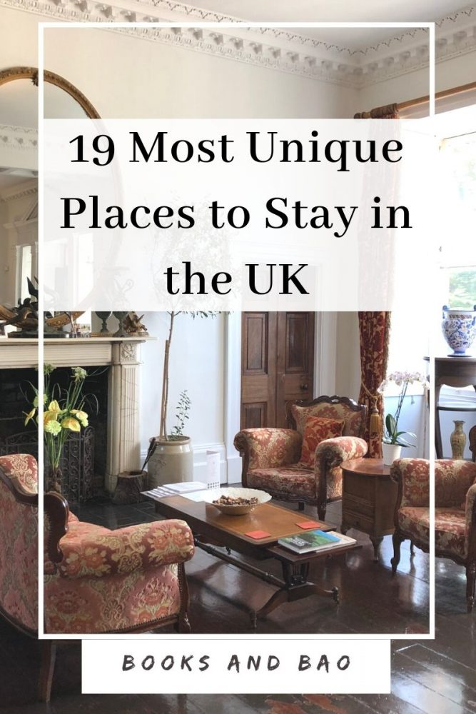 From lighthouses to haunted castles, these are the most unusual places to stay in the UK, whether you prefer the bustling city or the rugged countryside. #boutiqehotels #ukhotels #uktravel #luxuryhotels #glamping #harrypotter #castles