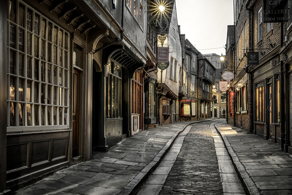 Street The shambles in York, England