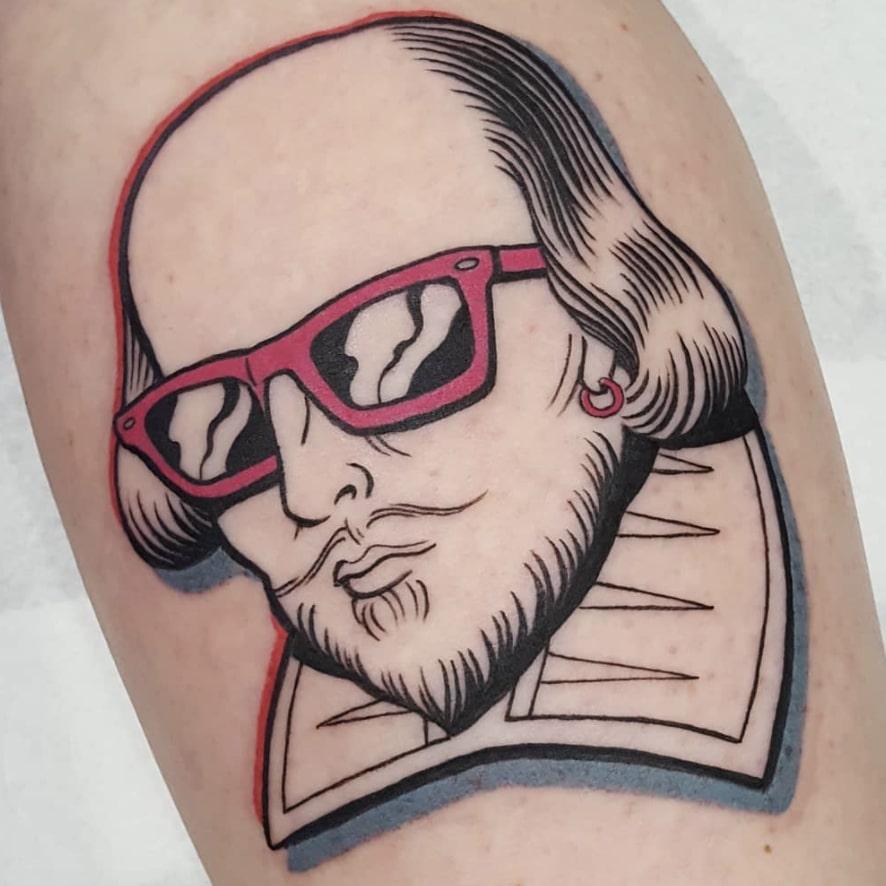 modern shakespeare tattoo