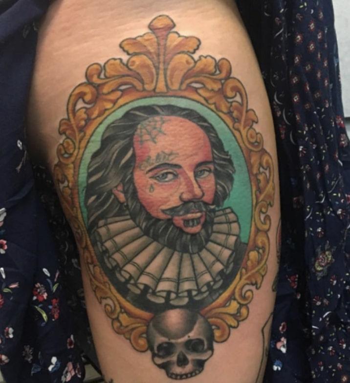 shakespeare portrait tattoo