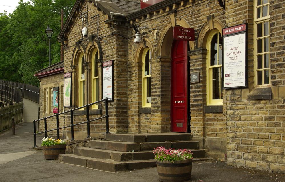 Railway station in Haworth, UK