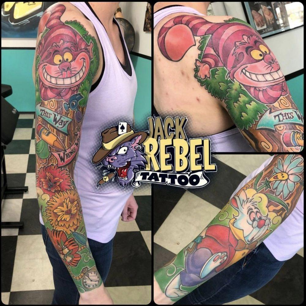 wonderland sleeve tattoo