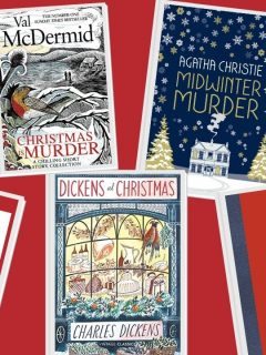 festive books set at christmas