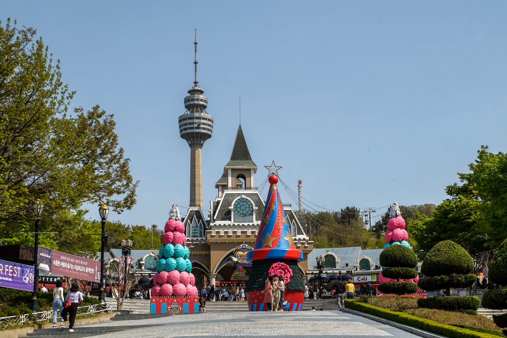 E World theme park and 83 tower daegu