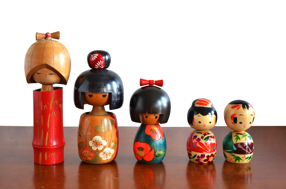 Japanese kokeshi dolls japan